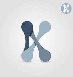 K letter logo template chains and connections vector image