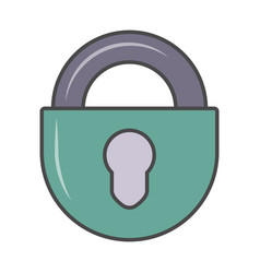 key padlock isolated pictogram vector image