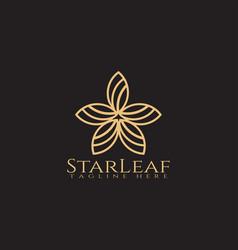 Leaves icon forms starscreative logo design vector