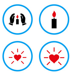 light source rounded icons vector image