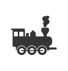 Locomotive steam train icon design template vector