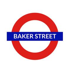 london underground sign metro tube subway vector image