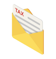 mail tax icon isometric style vector image