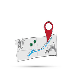 map cartoon vector image