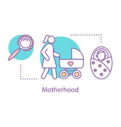 motherhood concept icon vector image