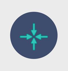 new flat arrow vector image