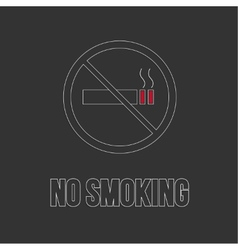 No smoking sign No smoke icon vector