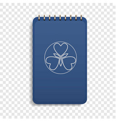 office blue notebook icon realistic style vector image