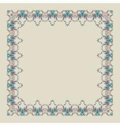 Ornamental doodling floral frame vector