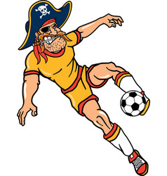 pirate sports logo mascot soccer vector image
