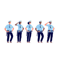 policeman group police officers police man and vector image