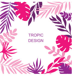 purple exotic leaves background vector image