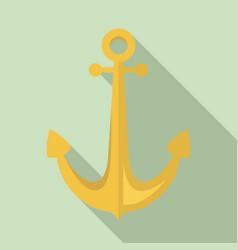 sailor anchor icon flat style vector image