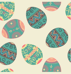 Seamless easter eggs pattern element vector