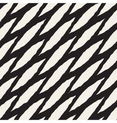 Seamless hand drawn diagonal wavy lines vector