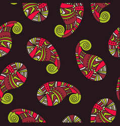 seamless pattern of indian paisley vector image