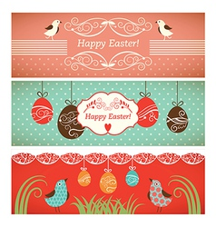 Set easter banners vector