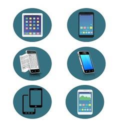 Set of 6 Smartphone icon vector image