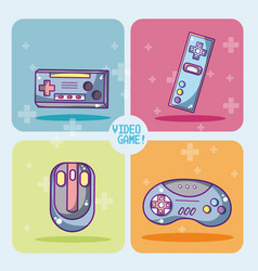 Set of videogames icons vector