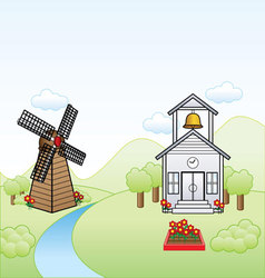 Simple town vector image