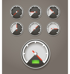 Speed limit web icons collection vector image