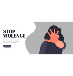 Stop violence landing concept abuse vector