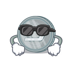Super cool dash coin character cartoon vector