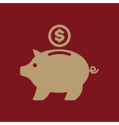 The moneybox icon Cash and money wealth savings vector image