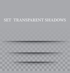 transparent paper with realistic shadow effect is vector image