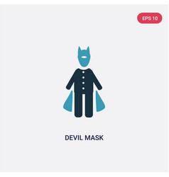 Two color devil mask icon from people concept vector
