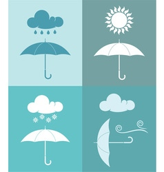 Umbrella Weather Icon vector