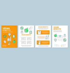 Vegetarian benefits brochure template layout vector