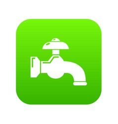 water tap icon green vector image