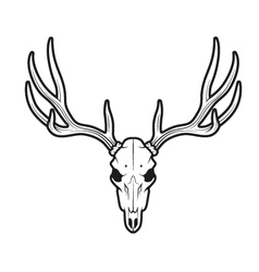 White tail deer skull vector