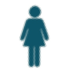 Woman icon blue blurred silhouette vector image