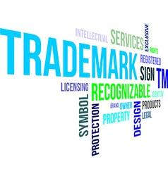 word cloud trademark vector image