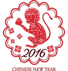 2016 Lunar New Year Of MonkeyChinese New YearMon vector image