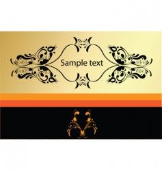 decorative card vector image