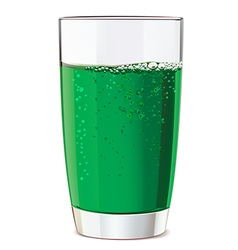 Glass of green juice vector image