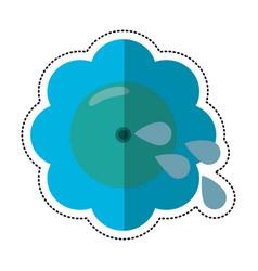 cartoon flower fool day image vector image vector image