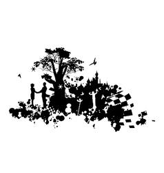 Castle Romance Concept vector image vector image