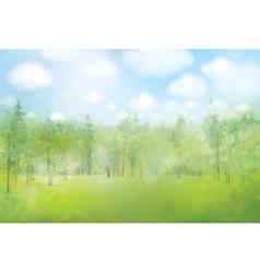 spring forest background vector image