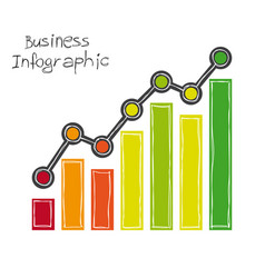 Business infographic freehand drawing vector