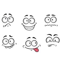 Cartoon emotions faces vector image vector image