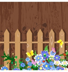 grunge decor with fence vector image vector image