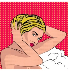 Sexy nude pop art girl vector image vector image
