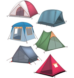 The complete set of tents vector image vector image