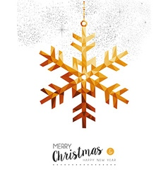 Gold Christmas and new year snow in low poly art vector image vector image