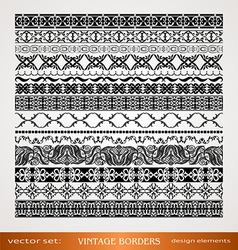 Vintage style ornamental borders vector image vector image