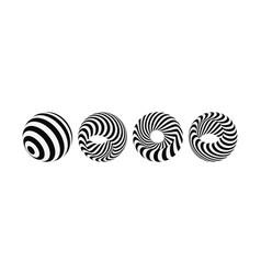 abstract design element optical art 3d vector image